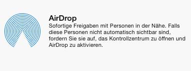 AirDrop, die clevere Tauschoption
