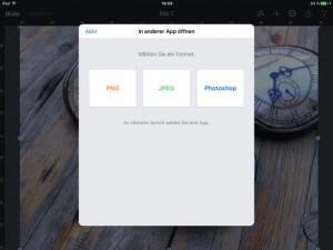 Dateiformate in Pixelmator